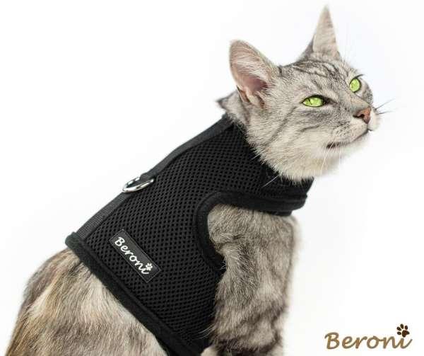 Vluchtbestendig kattentuig soft CLASSIC uni zwart