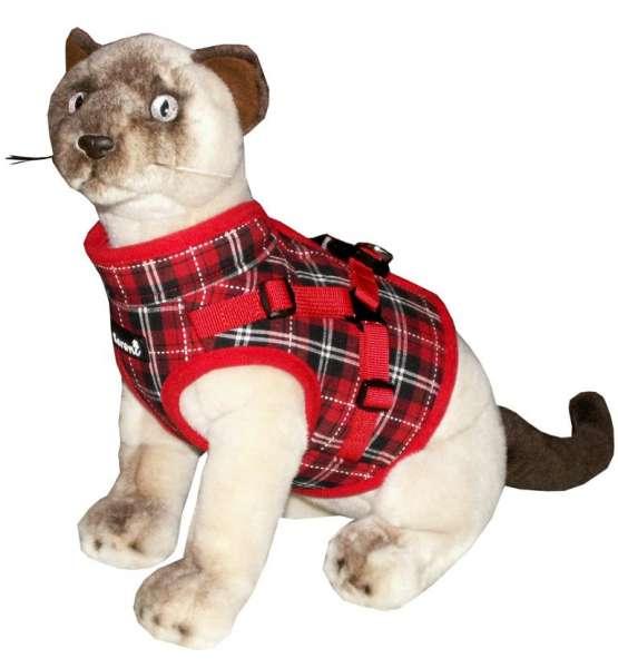Beroni NEW JACKET harnas veilig vest tuig voor katten rood