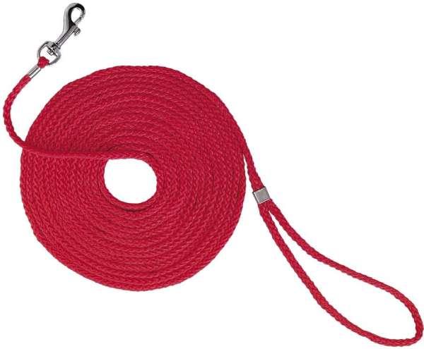 Lange riem voor kattentuigje 15 meter rood