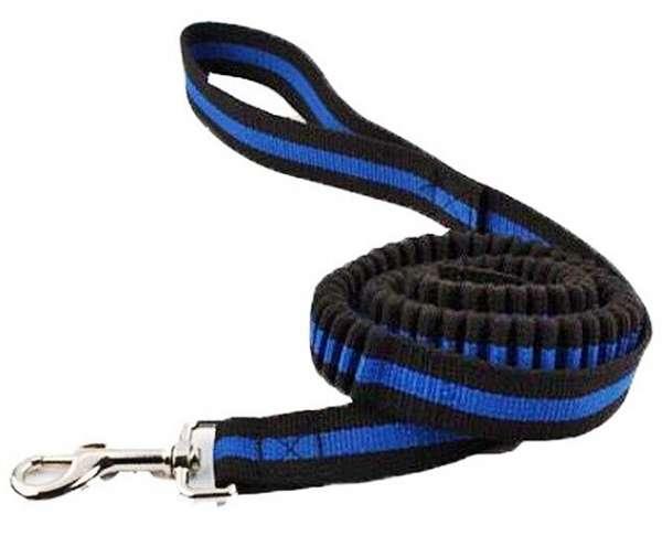 kattenriem kattenlijn blauw zwart veilig bungee elastische