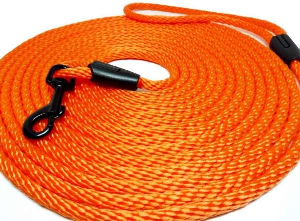 Kwalitatief hoogwaardige oranje neon kattenlijn van 5 en 10 meter lang